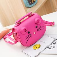 斜挎包韩版儿童包包女童斜挎包时尚公主可爱女孩手提包卡通小猫咪手拎包