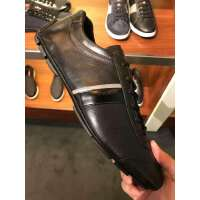 Prada 黑色配以白色条带装饰男士休闲鞋