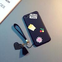 苹果7plus手机壳iphone6s挂绳软套苹果86splus防摔新潮女款 6/6s 4.7寸(LOVE款)