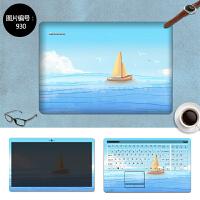 华硕V555U电脑贴纸N43S N43JM贴膜N43E笔记本保护膜14寸外壳膜 SC-930 三面+键盘贴