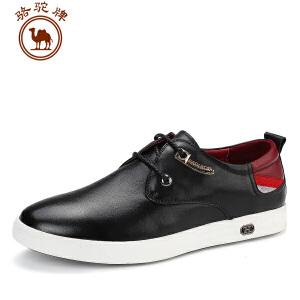 骆驼牌 新品男士皮鞋日常英伦休闲牛皮鞋柔软舒适男板鞋