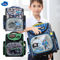 Delune正品小学生书包男1-4年级儿童书包减负防水定型书包
