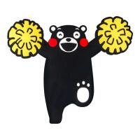 【正版授权】酷MA萌 熊本熊硅胶软胶冰箱贴创意卡通造型冰箱贴可爱创意家居装饰品立体磁贴 啦啦队赠举重熊本熊1个