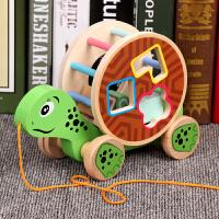 宝宝拖拉学步玩具车幼儿园儿童牵引手拉绳拉线益智玩具