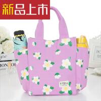 带饭手提袋子帆布妈咪包小拎包韩版午餐便当包大装饭盒袋的手提包
