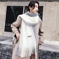 韩版围巾女秋冬季加厚百搭学生长款保暖冬天女生新款毛线围脖软妹