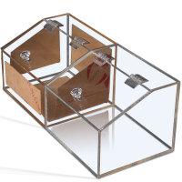 亚克力散装食品盒定制亚克力散装食品盒有机玻璃带盖糖果箱超市干货休闲食品收纳盒