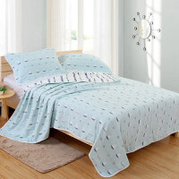 婴儿毛毯新生儿童被子薄款纯棉纱布宝宝小盖毯子 6层帆船 200*230