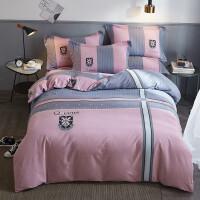 纯棉磨毛四件套床上用品床单被套