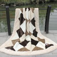 秋冬保暖双层加厚天丝绒双人毛毯结婚庆海欣盖毯子