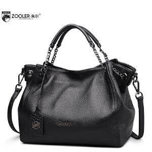 朱尔牛皮大容量女包手提包时尚简约女士包包单肩包真皮大包女