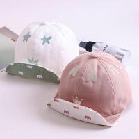 春秋季宝宝鸭舌帽6-12个月韩版翻檐遮阳帽婴儿夏天太阳帽儿童帽子