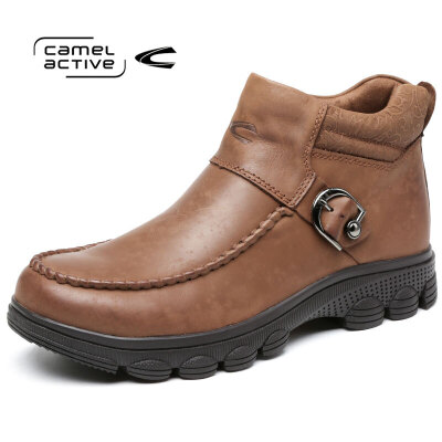 Camel Active/骆驼动感 秋冬侧拉链皮鞋男士短靴厚底男靴鞋高帮鞋