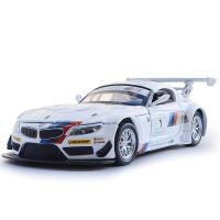 彩珀 独立装宝马Z4 GT3赛车仿真合金汽车模型 儿童回力声光玩具车