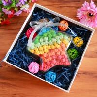 装许愿的玻璃瓶子带礼盒包装盒子星星折纸条爱心形透明放叠小创意