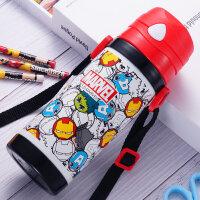 儿童保温杯带吸管杯子小学生不锈钢防摔水杯幼儿园宝宝水壶