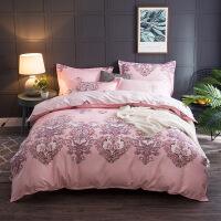 全棉磨毛四件套 床上用品 个性简约柔软舒适1.5*2.0/1.8*2.2/2.0*2.3 被套1.5*2.0 床单1.