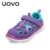 【下单立减100】UOVO 新款春夏季儿童男童女童凉鞋休闲鞋包头镂空鞋 科罗拉多