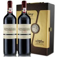 华诗歌十年 智利原瓶原装进口红酒 拉菲巴斯克十年干红葡萄酒 750ml*2礼盒装
