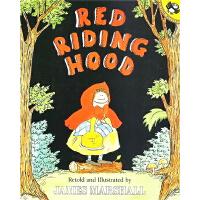 【78选3】英文原版 Red Riding Hood 小红帽 凯迪克奖作家绘本 经典童话故事图画书 James Mars