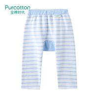 全棉时代 蓝白条婴儿针织卡通裤80/471条装