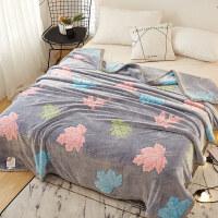 珊瑚绒毯子冬季加厚宿舍小毛巾被子床单人办公室法兰空调午睡毛毯