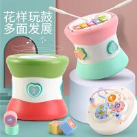 婴儿玩具六面体敲琴益智音乐多功能手拍鼓
