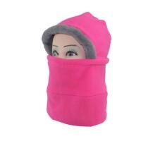 防寒冬季抓绒帽面罩护脸头套防风口罩 户外自行车骑行帽子