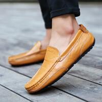 春秋季男士豆豆鞋男潮男鞋英伦商务百搭休闲皮鞋懒人软底驾车鞋