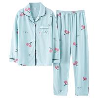 睡衣女春秋季纯棉薄款长袖两件套装可外穿夏天甜美可爱女士家居服