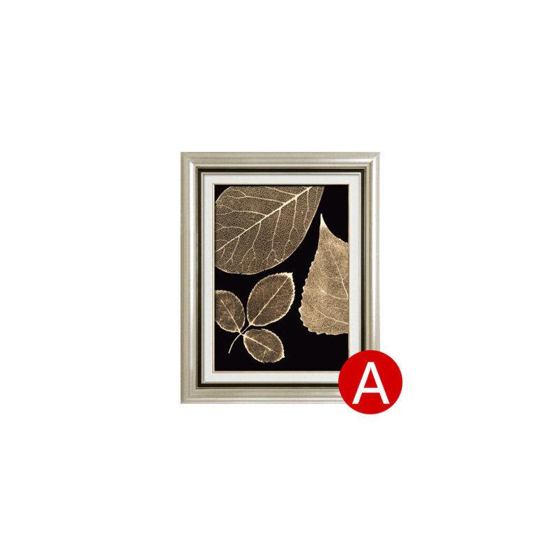 金叶子 现代简约美式沙发背景墙画有框三联画壁画挂画客厅装饰画  70*90 限时促销:买二送一 进口框+双框立体装