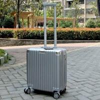 16寸迷你小型行李箱包20轻便商务男登机箱女学生18拉杆旅行皮箱子 银色版竖款20- 收藏加购优先发货