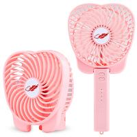 USB风扇迷你小电风扇可充电便携式学生床上宿舍随身手持电扇桌面办公室手拿儿童大风力小型家用小风扇