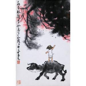 近代杰出的画家、诗人  李可染款《春在枝头已十分》