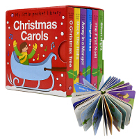 Christmas Carols 圣诞颂歌 撕不烂纸板6册口袋便携盒装套装