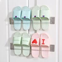 不锈钢鞋架304不锈钢免打孔家用卫生间厕所拖鞋架壁挂式