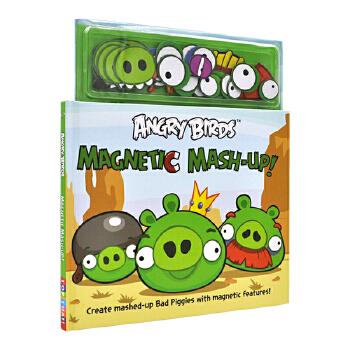 Angry Birds Magnetic Mash-Up 愤怒的小鸟 认识表情五官磁贴书 幼儿英语启蒙 手脑协调 儿童英文原版进口图书