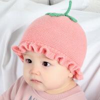 新生儿帽子秋冬季宝宝毛线帽婴儿胎帽男女孩公主帽