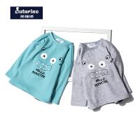 【满200减100】芙瑞诺童装男童2017冬季新品加绒卫衣