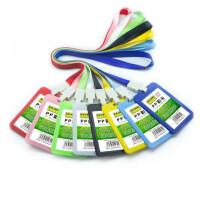 科记上翻式卡套 学生姓名卡套 工作牌 参会证 横竖款 PP彩色卡套 胸卡 挂牌 工作证 门禁卡 10个价格 多色可选(