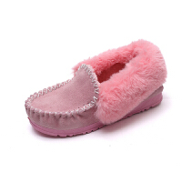 雪地靴女潮面包鞋女冬季2018韩版学院风文艺学生加绒纯色休闲平底百搭懒人鞋一脚蹬保暖棉鞋