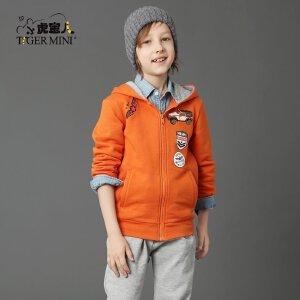 男童加绒加厚套装 儿童运动两件套中大童春装装9小虎宝儿童装10岁