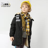 小虎宝儿童装男童棉袄2017冬装新款冬装加绒加厚儿童棉衣中大童潮