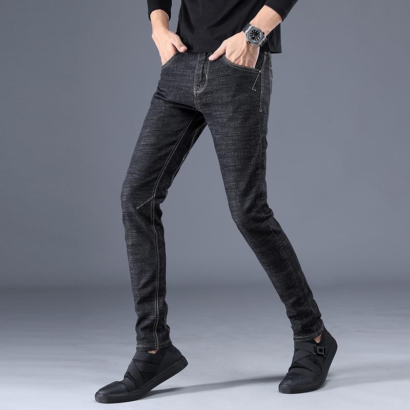 男士牛仔裤秋季新款弹力修身小脚休闲裤直筒百搭青年休闲裤男裤潮 发货周期:一般在付款后2-90天左右发货,具体发货时间请以与客服协商的时间为准