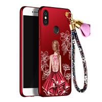 小米mix2s手机壳 小米MIX2S保护套 米mix2s 手机套 保护壳 个性挂绳全包硅胶防摔彩绘软潮壳女款
