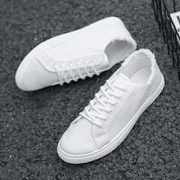 男鞋子夏季小白鞋男士运动休闲鞋学生板鞋韩版潮流帆布鞋白鞋潮鞋��鲲男鞋