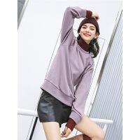 七格格套头卫衣秋装女新款冬季潮拼接半高领韩版宽松长袖上衣