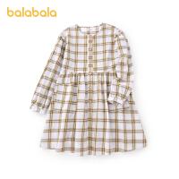 【3件4折价:70.4】巴拉巴拉儿童公主裙女童连衣裙春装童装中大童文艺格纹甜
