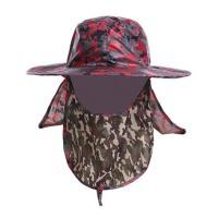 帽子男渔夫帽迷彩大沿遮阳帽防晒帽速干钓鱼帽女太阳帽