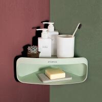 厨房三角置物架免钉无痕卫生间卫浴转角收纳架吸壁式挂架